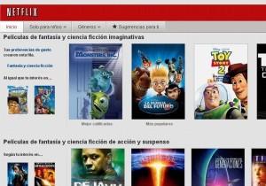 Netflix. Página de inicio.