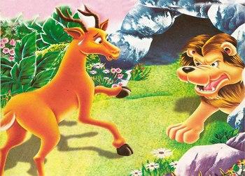 El Ciervo y el León