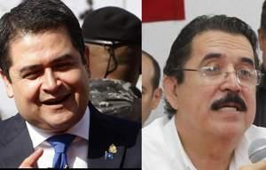 Juan Orlando Hernández y Manuel Zelaya